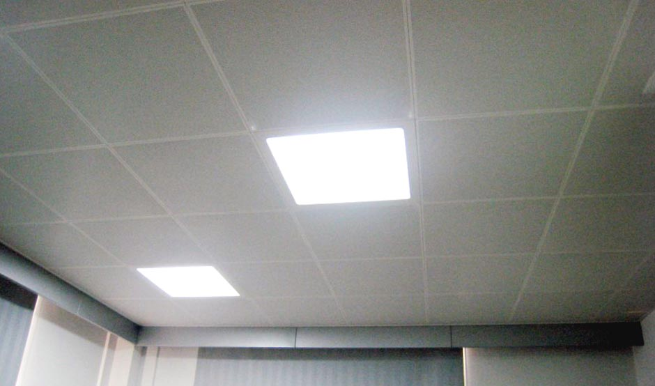 Exceptionnel Replacement Ceiling Tiles For Office · Office Ceiling Repaired With  Replacement Tiles